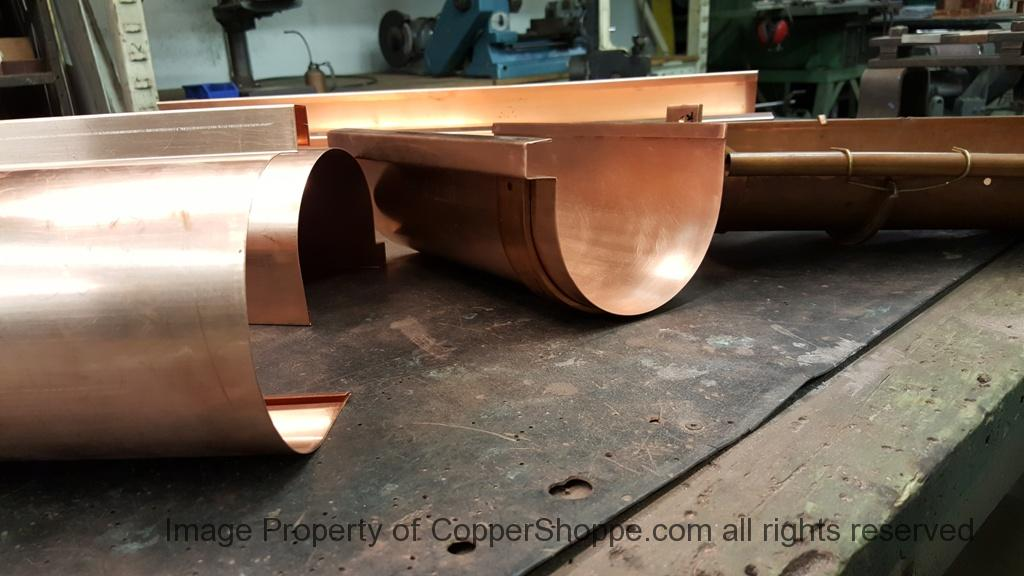 Deep Half Round Coppershoppe Gutters Vs Berger Brothers