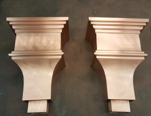 Milner Copper Leader Heads Collector Boxes