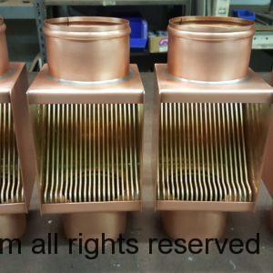 AutoClear Brasstonian Copper Downspout Leaf Debris Diverters Filters Cleanout