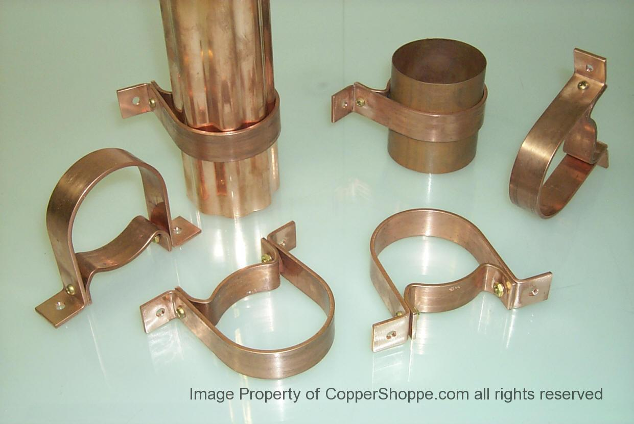 Rds Copper Downspout Brackets The New Coppershoppe Com