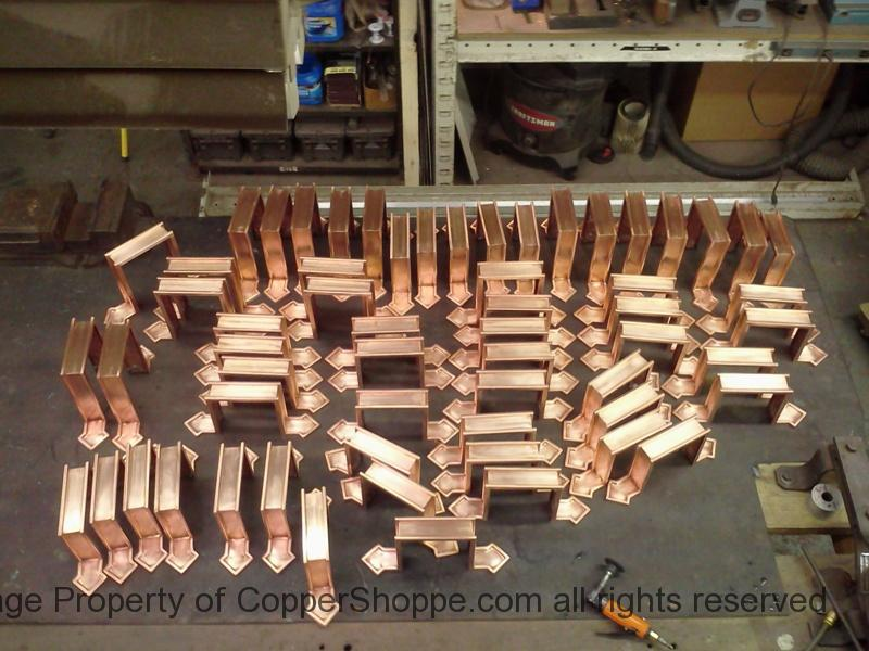 Diamond Deluxe Ornamental Copper Downspout Bands Straps