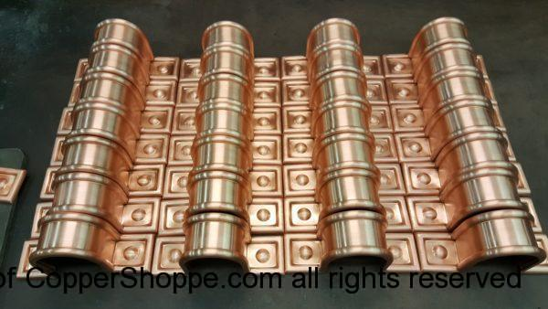 Radmont Radius Ornamental Decorative Copper Downspout Bands Straps