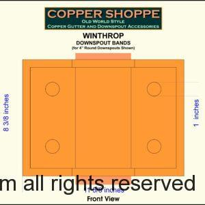 Winthrop Ornamental Decorative Copper Downspout Bands Straps Shop Drawing