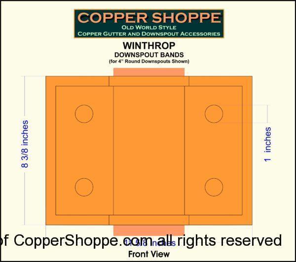 Winthrop Ornamental Decorative Copper Downspout Bands Straps Shop Drawing