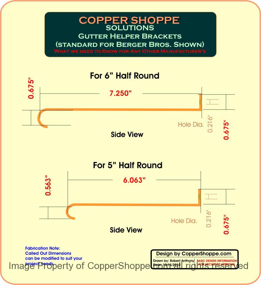 Hrgh Copper Gutter Helper Brackets Hangers The New