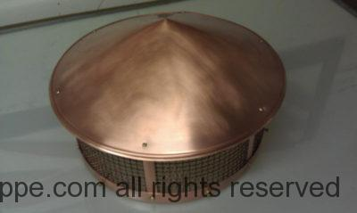 Round Copper Chimney Flue Cap