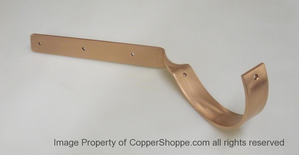 Side Rider Hip Copper Gutter Brackets Hangers The New