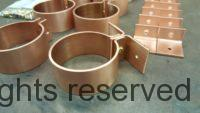 """Knoke Copper Downspout Bracket for 3"""" Round Copper Downspouts"""