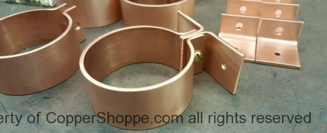 "Knoke Copper Downspout Bracket for 3"" Round Copper Downspouts"