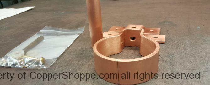 """RDSBTR Copper Downspout Bracket for 3"""" Round Copper Downspouts"""