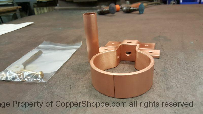 "RDSBTR Copper Downspout Bracket for 3"" Round Copper Downspouts"
