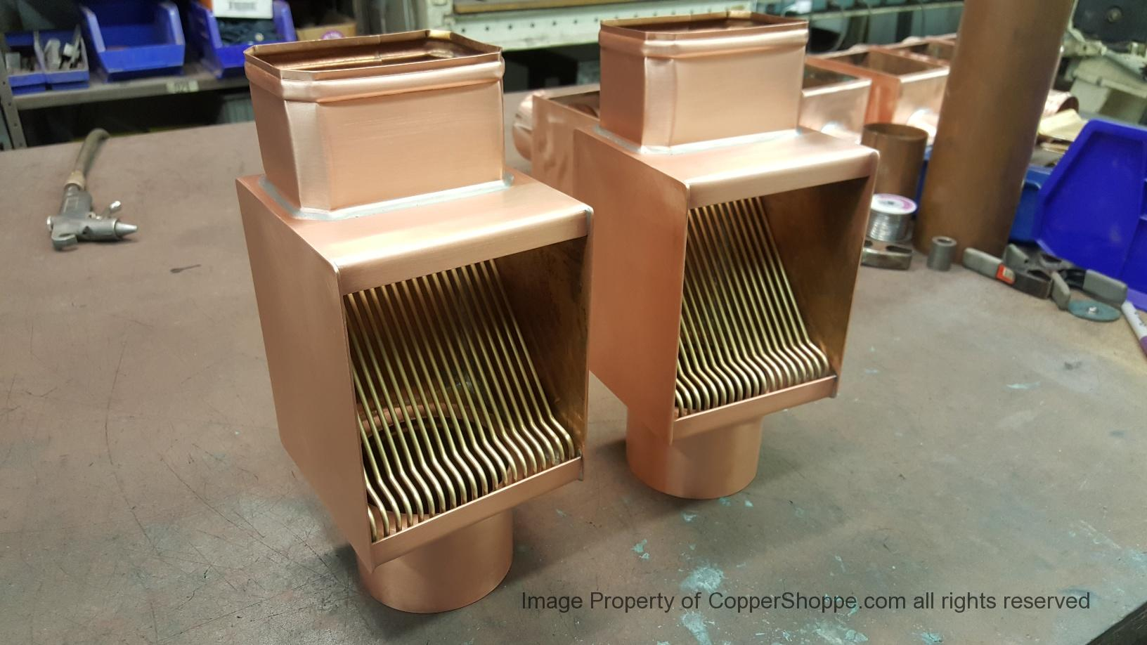 """AutoClear Brasstonian Standard Rod Packs for 4"""" by 3"""" Rectangular Copper Downspouts"""
