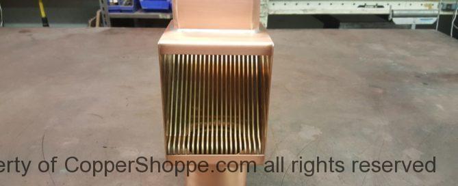 AutoClear Brasstonian Standard Copper Downspout Cleanouts Leaf Debris Diverters Filters for Rectangular Copper Downspouts