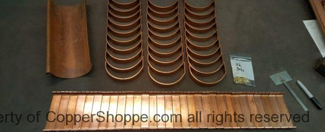 """HR6 Copper Gutter Brackets and Spreader Tension Bars for 6"""" Half Round Copper Gutters as Manufactured by World Gutter Systems"""