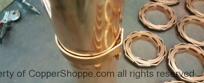 HRFDT Copper Gutter Brackets for Half Round Copper Gutters