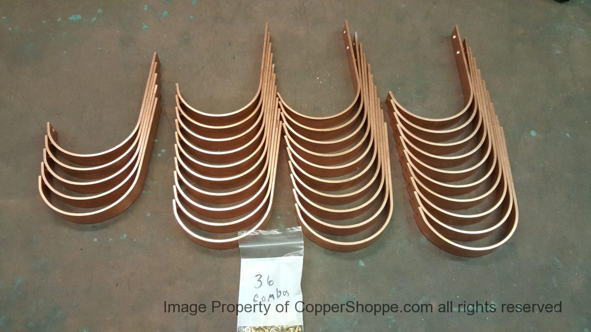 Hrrm Copper Gutter Brackets To Fit 6 Half Round Gutters