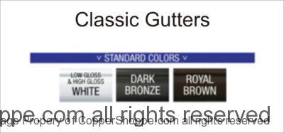Classic Gutters Color Chart