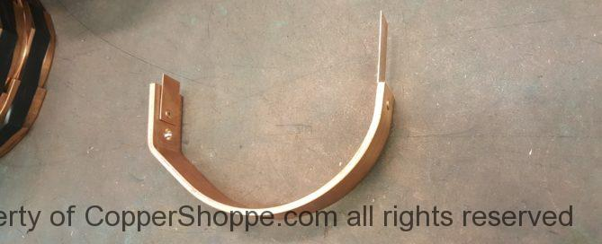 "HRFDT Copper Gutter Brackets for 6"" Half Round Gutters (KWM Gutter Machine)"