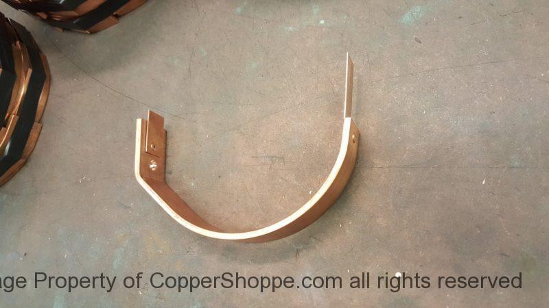 """HRFDT Copper Gutter Brackets for 6"""" Half Round Gutters (KWM Gutter Machine)"""