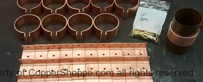 "Knoke Copper Downspout Brackets for 3"" Round Copper Downspouts"