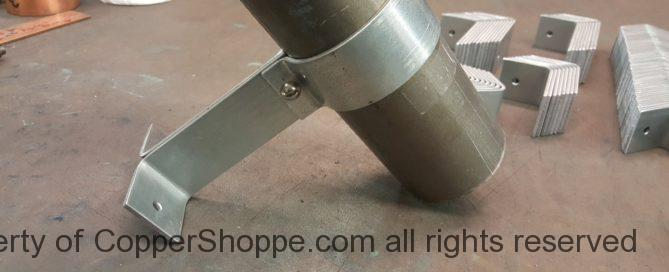 "Knoke Galvanized Steel Downspout Brackets for 3"" Round Downspouts"