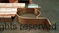 RDS Copper Downspout Brackets for 5 Inch Round Copper Downspouts