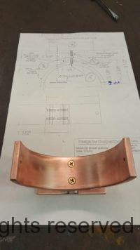 """Torres Copper Downspout Bracket for 4"""" Round Copper Downspouts"""