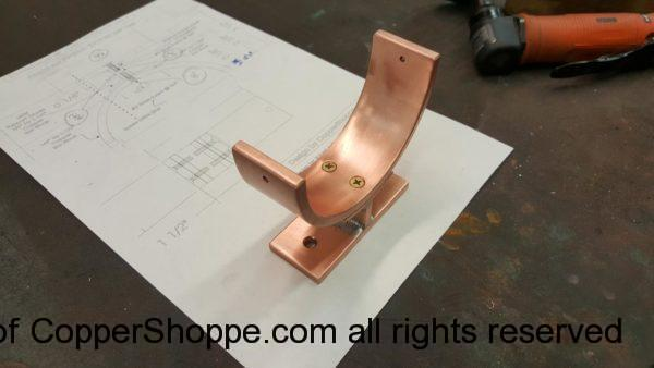 "Torres Copper Downspout Bracket for 4"" Round Copper Downspouts"