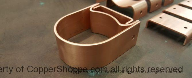 "Varni Copper Downspout Brackets for 3"" Round Copper Downspouts"