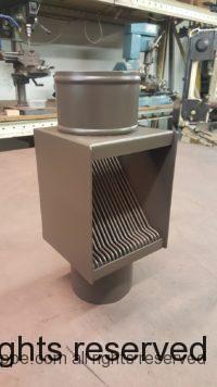 AutoClear PCSS in Dark Bronze Downspout Cleanout Leaf Diverter for Aluminum Downspouts
