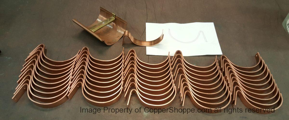 HRC Copper Gutter Brackets for 6″ Half Round Copper Gutters