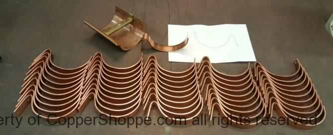 "HRC Copper Gutter Brackets for 6"" Half Round Copper Gutters"