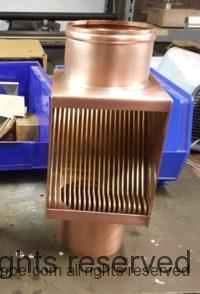 "AutoClear Brasstonian with Standard Rod Pack for 4"" Round Copper Downspouts."