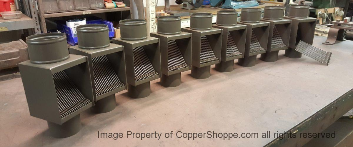 AutoClear PCSS in Dark Bronze to match Berger Brothers painted Downspouts