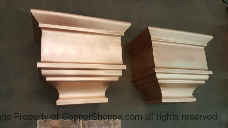 Nemours Copper Leader Heads Collector Boxes