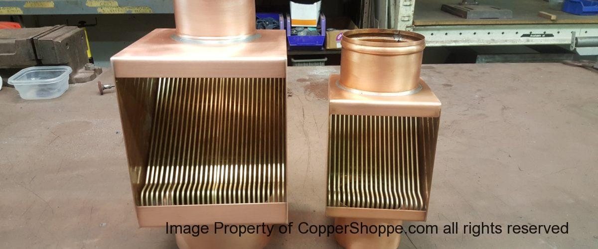 AutoClear Maximus Copper Downspout Leaf Debris Diverter Filter Cleanout