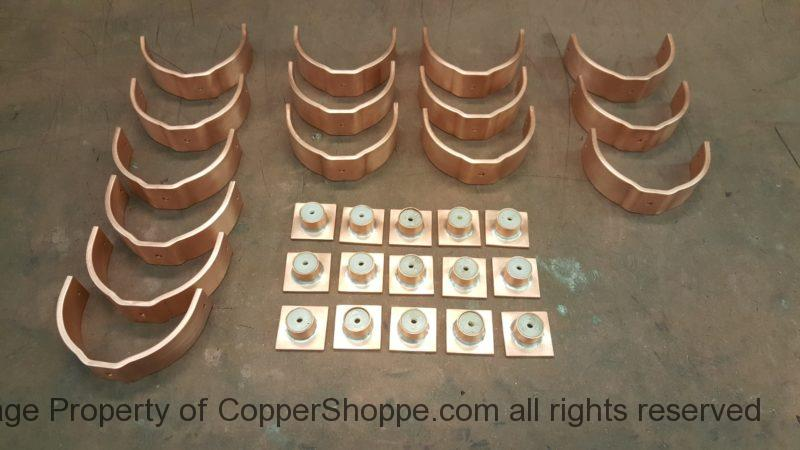 Bandit Base U Style Copper Downspout Brackets