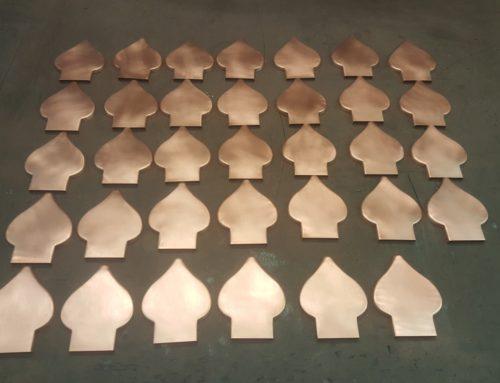 Spade Ornamental Decorative Copper Downspout Band Strap Ears
