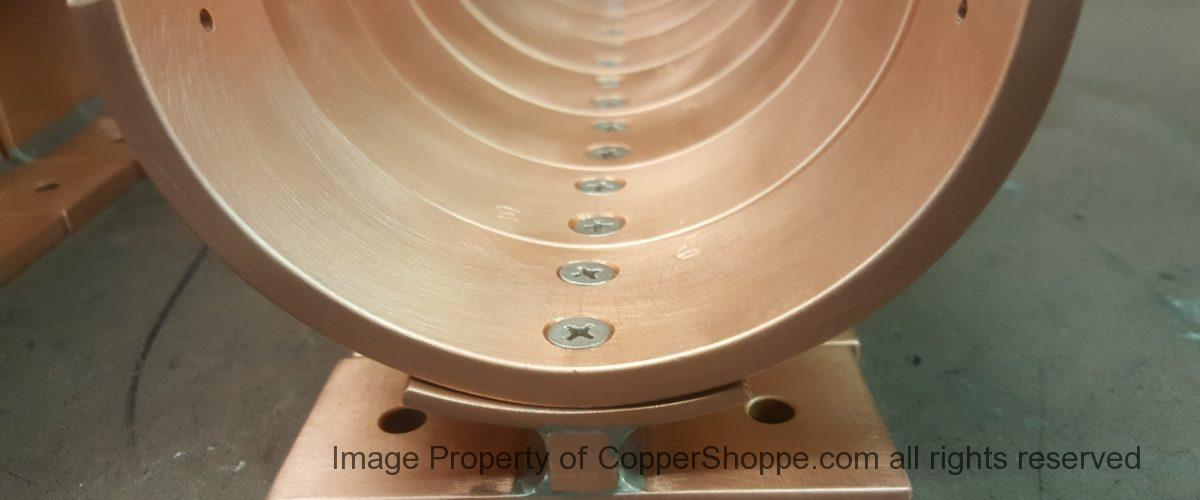 Torres Copper Downspout Brackets for 4″ Round European Copper Downspouts