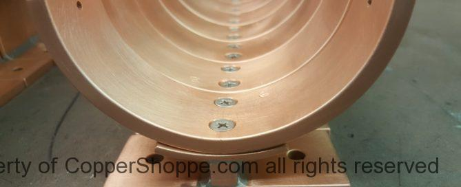 "Torres Copper Downspout Brackets for 4"" Round European Copper Downspouts"