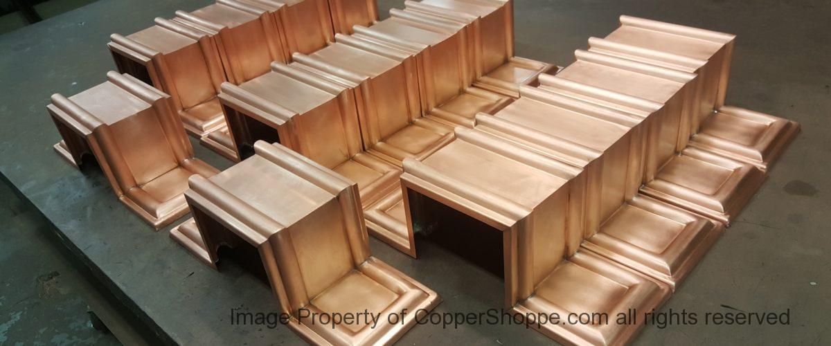 Dorchester Ornamental Copper Downspout Bands