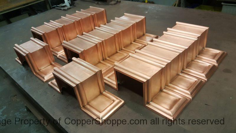 """Dorchester Ornamental Copper Downspout Bands for 5"""" by 4"""" Rectangular Copper Downspouts"""