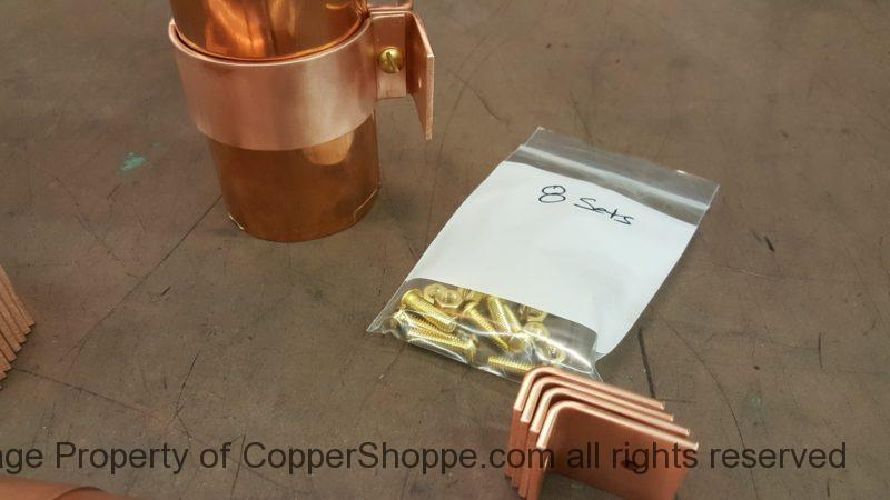 "Knoke Copper Downspout Brackets for 3"" Round Downspouts"
