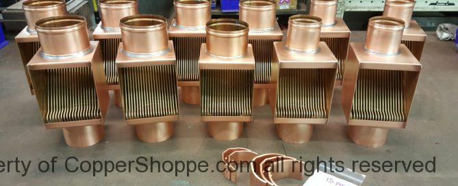 """Brasstonian Series AutoClears for 4"""" and 3"""" Round Copper Downspouts The Best Copper Downspout Cleanouts"""