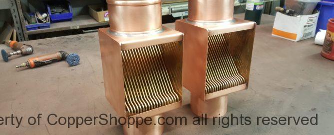 AutoClear Brasstonian Copper Downspout Cleanouts Leaf Diverter Filter