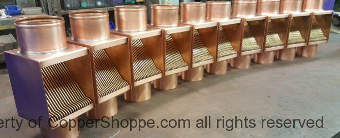 AutoClear I-COPPER and Brasstonian Series Copper Downspout Leaf and Debris Diverters Filters Cleanouts