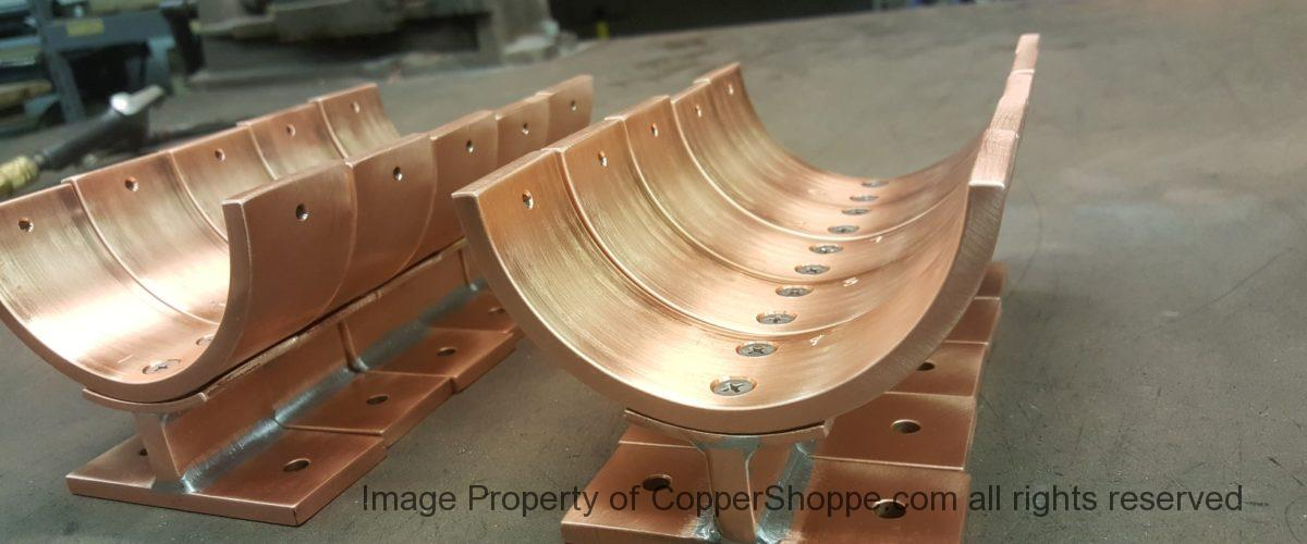 Torres Copper Downspout Brackets for 4 Inch Round Copper Downspouts