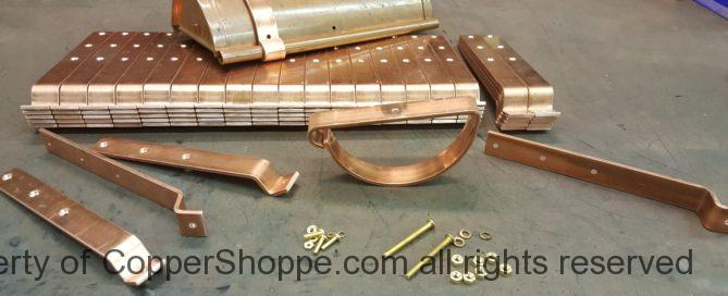 "HRRMA Copper Gutter Brackets for 6"" Half Round Gutters"