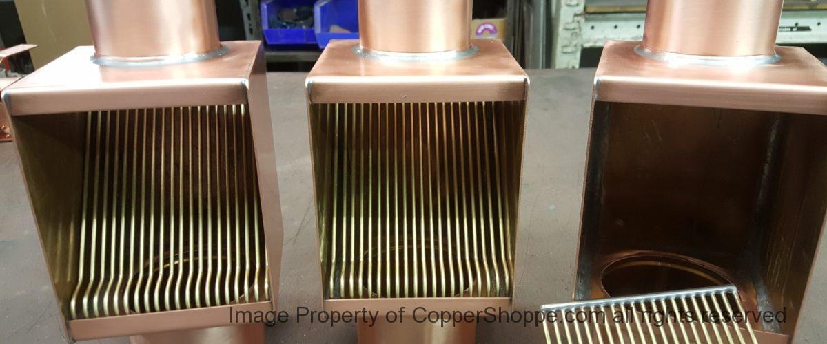 AutoClear Brasstonian Copper Downspout Leaf Diverters Filters Cleanouts