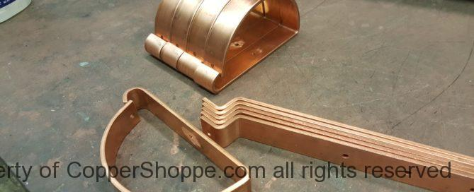 HRRMA Copper Gutter Brackets Hangers for 6 inch Half Round Copper Gutters